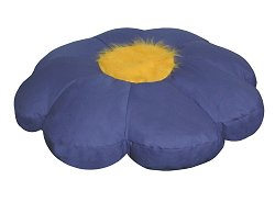 Bean Bag Chair Flower Shaped in Royal Blue/Yellow - Child Plush - 30-8032-607