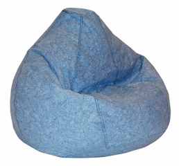 Bean Bag Chair Kids Large in Distressed Denim - Print and Plush - 30-1021-636