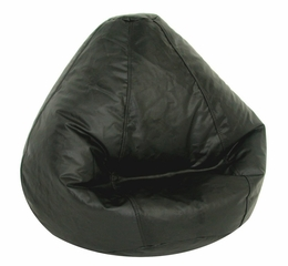 Bean Bag Chair Kids Large in Ebony Vinyl - Lifestyle - 30-1021-301
