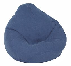 Bean Bag Chair Kids Large in Indigo Denim - Print and Plush - 30-1021-599