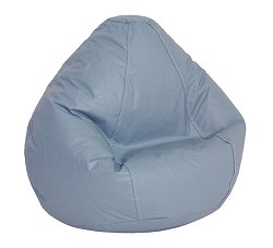 Bean Bag Chair Kids Large in Wedgewood Blue Vinyl - Lifestyle - 30-1021-319