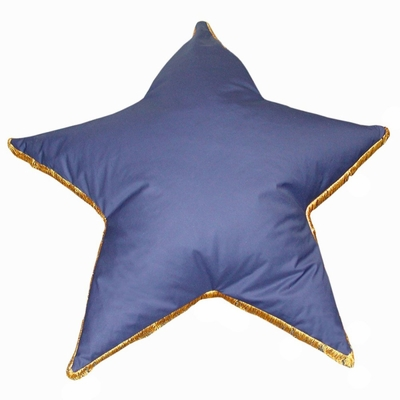 Bean Bag Chair Star Shaped with Fringe in Royal Blue - Child Plush - 30-8012-607