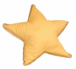 Bean Bag Chair Star Shaped with Fringe in Yellow - Child Plush - 30-8012-613