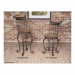 Beau Swivel Stool Dark Bronze Metal - Largo - LARGO-ST-D225-2X