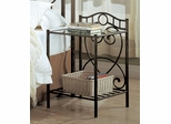 Beckley Iron Nightstand in Antique Green - 300162