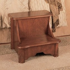 "Bed Step with Storage - ""Woodbury Mahogany"" - Powell Furniture - 520-535"
