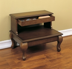 "Bed Steps with Drawer - Attic Cherry ""Antique Cherry"" - Powell Furniture - 961-535"