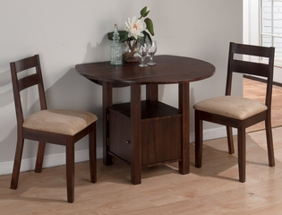 Bedford Acacia 3PC Drop Leaf Table & Side Chair Set - 743-40