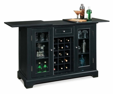 Bedford Bar Cabinet in Ebony - Home Styles - 5531-99