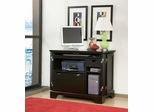 Bedford Compact Office Cabinet in Ebony - Home Styles - 5531-19
