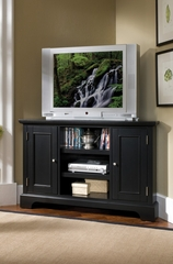 Bedford Corner Entertainment TV Stand in Ebony - Home Styles - 5531-07