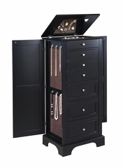 Bedford Jewelry Armoire in Ebony - Home Styles - 5531-47