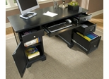 Bedford Pedestal Desk in Black - Home Styles - 5531-18