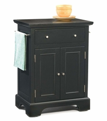 Bedford Small Kitchen Cart in Ebony - Home Styles - 5531-951