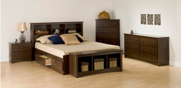 Bedroom Furniture Set 1 in Espresso - Fremont - Prepac Furniture - FRE-BSET-1