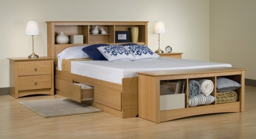 Bedroom Furniture Set 1 in Maple - Sonoma Collection - Prepac Furniture - SNM-BSET-1