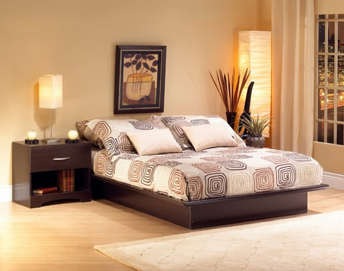 Bedroom Furniture Set 2 in Chocolate - South Shore Furniture - 3159-BSET-2