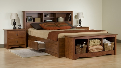 Bedroom Furniture Set 3 in Cherry - Monterey Collection - Prepac Furniture - MTR-BSET-3