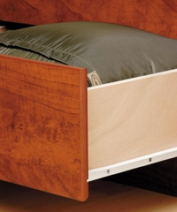 Tall Twin Size Platform Storage Bed in Cherry - Monterey Collection - Prepac Furniture - CBT-4106