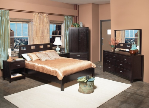 Bedroom Furniture Set 3 - Nevis Espresso - Modus Furniture - NVE-BSET-3
