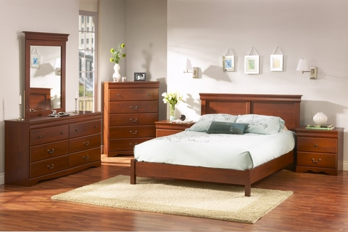 Bedroom Furniture Set in Classic Cherry - South Shore Furniture - 3168-BSET-1