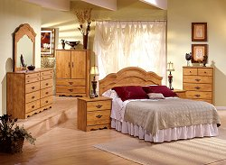 Bedroom Furniture Set in Country Pine - South Shore Furniture - 3232-BSET-3