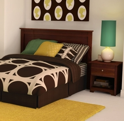 Bedroom Furniture Set in Somptuous Cherry - South Shore Furniture - 3156-BSET-15