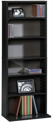 Beginnings Multimedia Storage Tower Black - Sauder Furniture - 409021