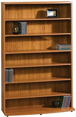 Beginnings Multimedia Storage Tower Pecan - Sauder Furniture - 408737
