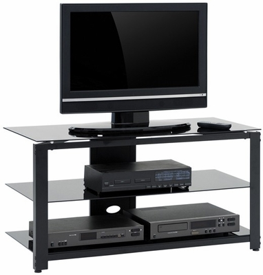 Beginnings Panel TV Stand Black / Black - Sauder Furniture - 408911