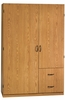 Beginnings Wardrobe / Storage Cabinet Oregon Oak - Sauder Furniture - 404063