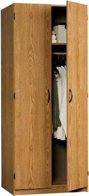 Beginnings Wardrobe / Storage Cabinet Oregon Oak - Sauder Furniture - 411029