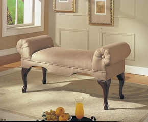 Beige Mfb Rolled Arm Bench - Aston - 05629