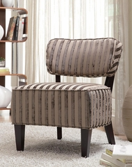 Beige Stripes Armless Accent Chair - 900422