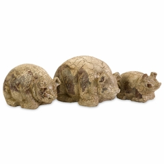 Belarius Kneeling Pigs (Set of 3) - IMAX - 40104-3