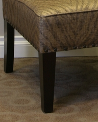 Belinda Accent Chair in Metallic Woven Linen - 4D Concepts - 773511