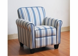 Bell Blue/White Stripes Kid Chair - Bell - 10060
