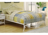 Bella Full  Size Metal Bed in White - 400521F