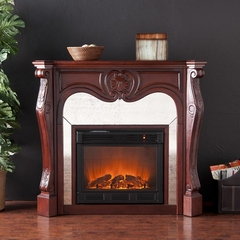 Belmont Cherry Electric Fireplace - Holly and Martin