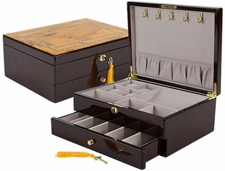 Belmont Jewelry Box in Rosewood  - JBQ-SA103
