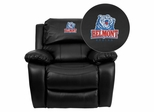 Belmont University Bruins Black Leather Rocker Recliner - MEN-DA3439-91-BK-41004-EMB-GG