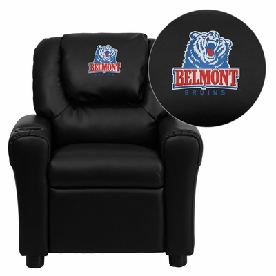 Belmont University Bruins Black Vinyl Kids Recliner - DG-ULT-KID-BK-41004-EMB-GG