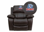 Belmont University Bruins Brown Leather Rocker Recliner - MEN-DA3439-91-BRN-41004-EMB-GG