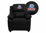 Belmont University Bruins Embroidered Black Leather Kids Recliner - BT-7985-KID-BK-LEA-41004-EMB-GG