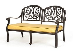 Bench and Cushion (Set of 2) - Florence - Caluco - C777-2-SET