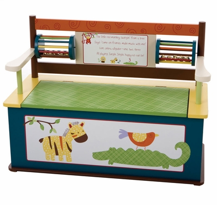Bench - CoCaLo Jungle Jingle Bench with Storage - LOD70201