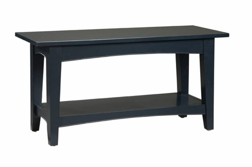 Bench in Black - Shaker Cottage - Alaterre - ASCA03BL