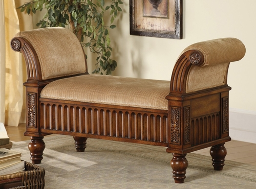 Bench in Brown - Coaster - 100225