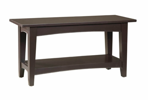 Bench in Chocolate - Shaker Cottage - Alaterre - ASCA03CL