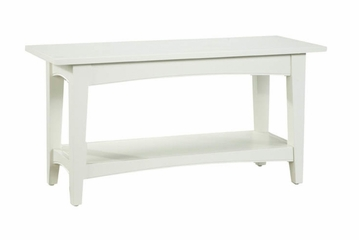 Bench in Ivory - Shaker Cottage - Alaterre - ASCA03IV